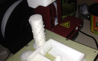 Image of unassembled, 3D printed music box