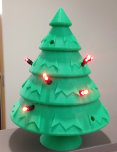 led lit christmas tree